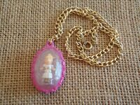 Vintage Polly Pocket Bluebird 1993 Jewel Surprise Locket Necklace Complete W3