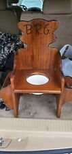 Vintage Wood Childs Potty Chair