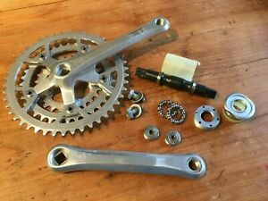 Rare Campagnolo Victory 1980's Triple Chainset and Bottom Bracket, 26/36/46, VGC