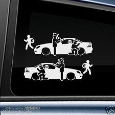 (46) 2x Fun Sticker Adhesivo catch real inusual mercedes benz slk r170