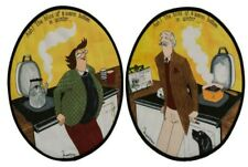 2 Round Female and Male Bliss Hob Covers Suitable For AGA Cookers
