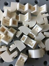 LEGO New Lot Of 24 White Bricks Rounded With Arch 1x1x1 1/3 Building Roof