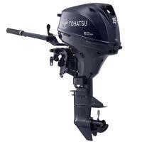 Tohatsu 15hp Outboard Motor 4 Stroke Elec.Str Long Shaft EFI Fishing Boat Engine