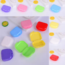1pc Dental Orthodontic Retainer Denture Storage Box Case Mouthguard Container GT