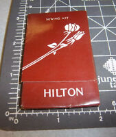 Vintage Hilton Hotel Sewing Needle Book , great colors & graphics