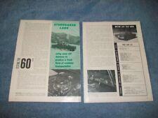 "1960 Studebaker Lark Six Vintage Road Test Info Article ""Testing the 60's"""