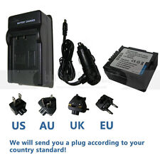 CGA-DU07 Battery&charger for PANASONIC PV-GS19 PV-GS29 PV-GS39 PV-GS59 Camcorder