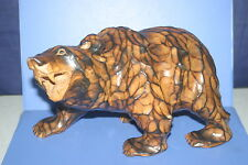 The wood carving BEAR AINU HOKKAIDO JAPAN 162