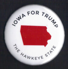 "2016 Donald Trump 2.25"" / ""Iowa - White"" Official Presidential Campaign Button"
