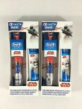 Star Wars Toothbrush Crest BB8 Storm Trooper Oral B Toothpaste Battery Set of 2