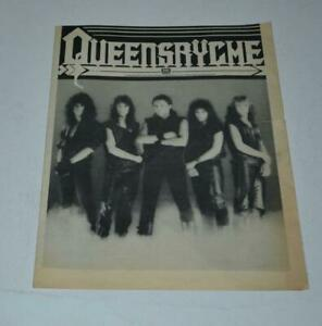 QUEENSRYCHE 1983 BAND INTRO FIRST EVER FAN CLUB CAMPAIGN OFFICIAL NEWSLETTER