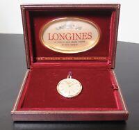.Vintage 1964 Longines 14K Gold Slim Line 35mm Pocket Fob Watch & Original Box