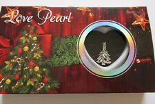 Christmas Love Pearl-Christmas Tree Necklace & Pendant- genuine pearl in oyster