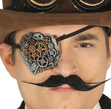 Steampunk EYE PATCH Halloween Costume Robotic Cyber Gothic Fancy Dress Accessory