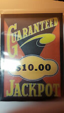 REPLACMENT MILLS / BUCKLEY GUARANTEED $10.00 JACKPOT GLASS SLOT MACHINE