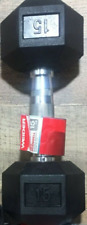 NEW Weider 15Lb Dumbbell SINGLE Rubber Coated Hex Weight Dumbell 15 Pound