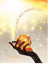 PUBLICITE ADVERTISING   2007 HERMES  parfum l' ELIXIR DES MERVEILLES