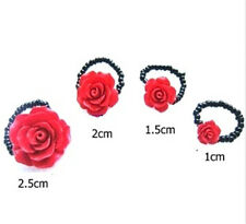 Red Lacquer rose stretch ring different choices