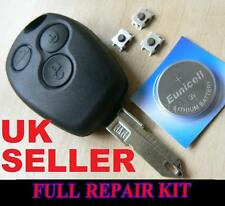SUITABLE FOR RENAULT 3 BUTTON  KANGOO CLIO KEY REMOTE FOB CASE FULL REPAIR KIT