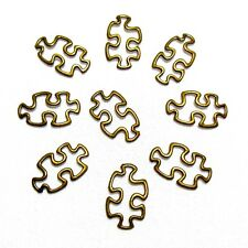 Autism Awareness Charms Open Puzzle Piece Bronze Aspergers Jewelry Lot of 8
