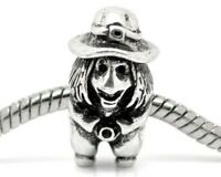 3D WITCH_Bead For Silver European Chain Charm Bracelet_Halloween Wizard Hat