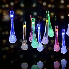 20 LED Solar Powered String Lights Icicle Globe Patio Garden Light Party Decor