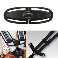 Baby Car Safety Seat Lock Buckle Strap Belt Latch Harness Chest Child Clip Black