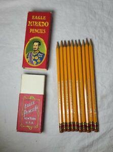 Vintage Eagle Mikado Pencils No. 174 Grade 2 in box with 10 pencils very nice