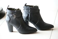 Chaussures femme, bottines noires, Promod taille 40