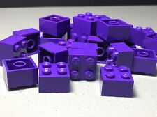 Lego 2X2 Dark Purple - New Bulk Lot Of 25 2x2 Brick Blocks Authentic 3003