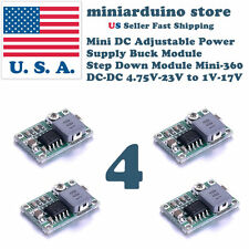 4pcs Mini-360 Buck Converter Step Down Adjustable Power Supply Module DC-DC 1-17