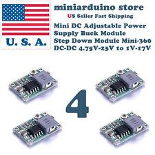 4pcs Mini-360 Buck Converter Step Down Adjustable Power Supply Module DC-DC 1-17