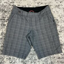 The North Face Womens Gray Plaid Mendocino Casual Shorts Golf Hiking Size 4