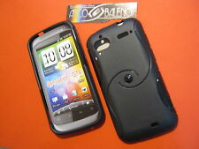 CUSTODIA COVER IN SILICONE TPU PER HTC SENSATION XE G14 Z710E NERO BLACK MORBIDO