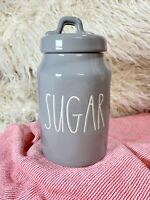 "NEW! Rae Dunn By Magenta ""Sugar"" Canister Gray Artisan Collection Grey 2021 HTF"
