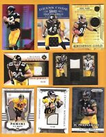 Terry Bradshaw TROY POLAMALU ANTONIO BROWN WARD JERSEY CARD TJ WATT BELL ROOKIE