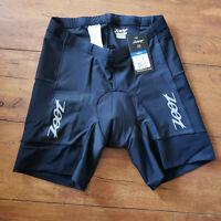"ZOOT Men's X-Small Tri Shorts Black 6"" Inseam Padded Swim Bike Run Triathlon XS"