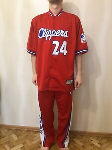 Los Angeles Clippers #24 Size XL basketball jersey suit jacket tracksuit pants