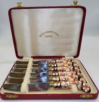 ROYAL CROWN DERBY TRADITIONAL IMARI Luncheon KNIFE SET of 6 IN ORIGINAL BOX