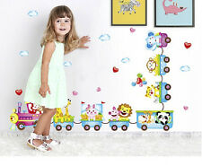 Animal Wall Sticker Monkey Giraffe Tree Train Nursery Baby Kids Room Decors YA9C