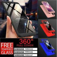 Luxury 360 Full Cover Slim Hard Shockproof Case For Samsung Galaxy A7 A8 A9 2018