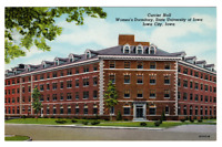 VTG Postcard University of Iowa Currier Hall Women's Dormitory Iowa City J -20