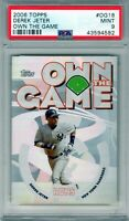 "2006 Topps Own The Game  ""Derek Jeter""  PSA 9  *NYY STUD*  **HOF 2021**  POP 13"
