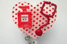 NURSE RED PERFUME RN MEDICAL DOCTOR EMT NURSE VET TEACHER ID BADGE HOLDER