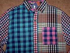 NWT Tommy Bahama Carnival Mixer MULTI-PLAID Button Shirt Men's XXL Tiger's Eye