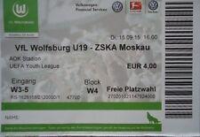 TICKET UEFA Youth League 2015/16 VfL Wolfsburg - ZSKA Moskau