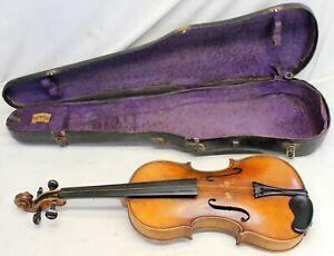 antique 1/16 Size VIOLIN w/ Original Case 1900's Instrument repair restore L@@K