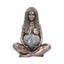 More details for new ethereal mother earth gaia art statue bronze effect figurine 30cm e4986