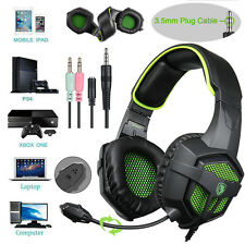 SADES SA-807 Surround Sound Stereo Gaming Headset Games Headphone w/ Mic PC