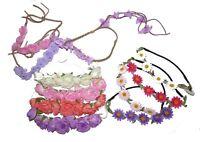 ROSE FLOWER ORCHID HAIR GARLAND BANDEAUX FESTIVAL FLORAL HEADBAND HEADPIECE